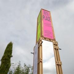 Fête Place // Margerie-Chantagret // installation